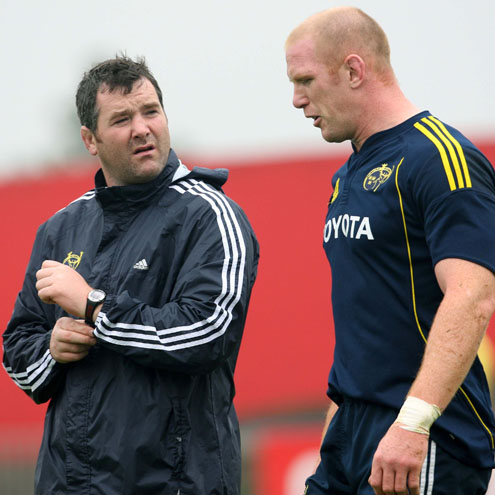 Munster's Anthony Foley and Paul O'Connell