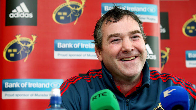Anthony Foley at today's press conference