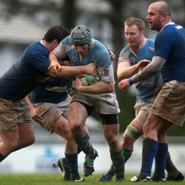 Anthony Kavanagh takes the ball on for Garryowen