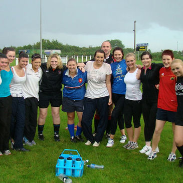The Ards women braved the elements for their first training session