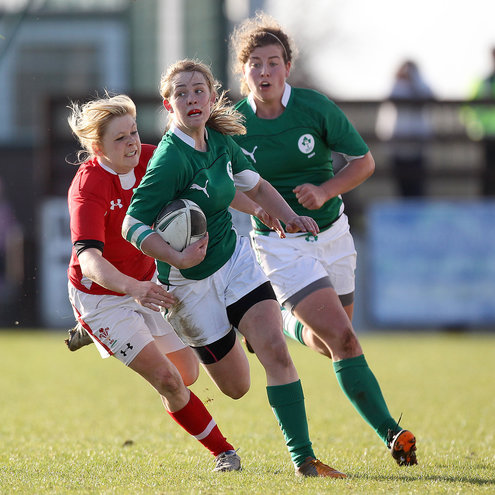 Ashleigh Baxter in action for the Ireland Women