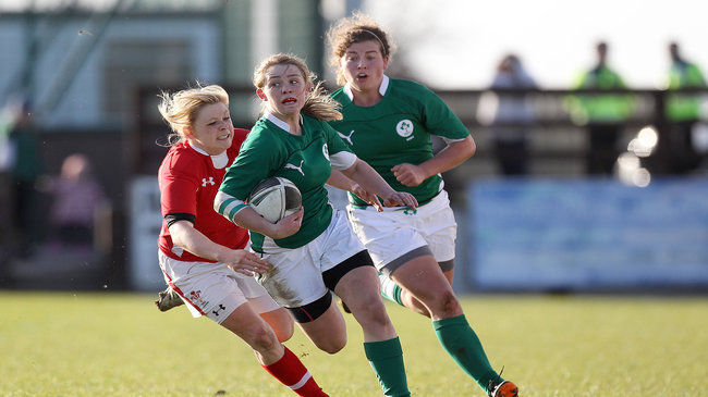 Ashleigh Baxter in action for Ireland