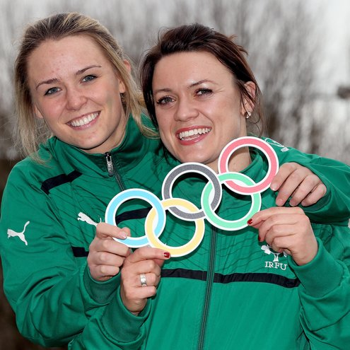 Ireland Sevens players Ashleigh Baxter and Lynne Cantwell
