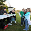 The Ireland squad hosted an autograph session at their training facility on Monday afternoon