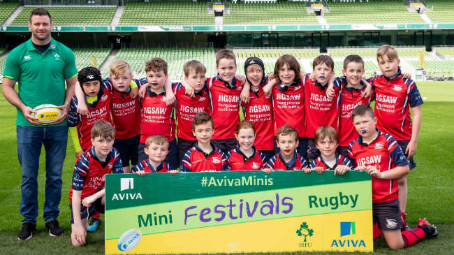 Aviva Stadium Hosts National Aviva Mini Rugby Festival