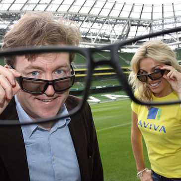 Aviva's Alan Tyrrell and model Pippa O'Connor
