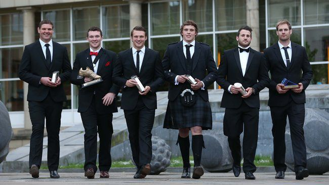 Some of the PRO12 award winners