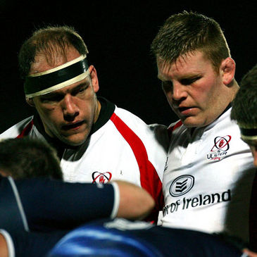 Ulster front rowers BJ Botha and Nigel Brady