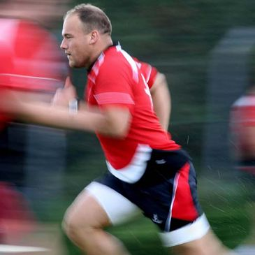 BJ Botha training with Ulster at Newforge