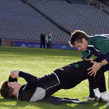 Brian O'Driscoll undergoing a fitness test