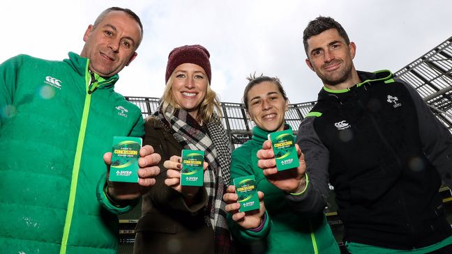 John Lacey, Mairead Liston, Katie Fitzhenry and Rob Kearney