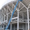 A look at the back of the West Stand as work continues at Thomond Park