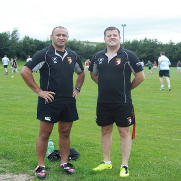 Ballincollig's Willie Shubart and Joerg Peetz