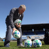 Ireland's genial baggage master Paddy 'Rala' O'Reilly is pictured laying out the rugby balls for the squad's final pitch session before Thursday's trip to Rotorua