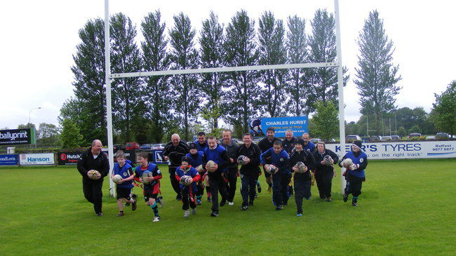 Luke Marshall with the Ballymena Bears