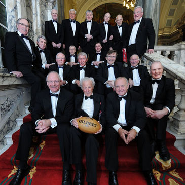 Some of Ulster's legendary Lions players at Belfast City Hall