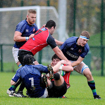 Ballymena and Queens in action in the Ulster Bank League