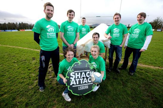 Ballynahinch are supporting Habitat NI's 'Shack Attack' event
