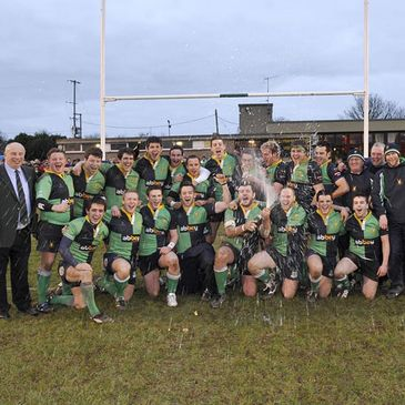 Ballynahinch celebrate their Ulster Senior League success