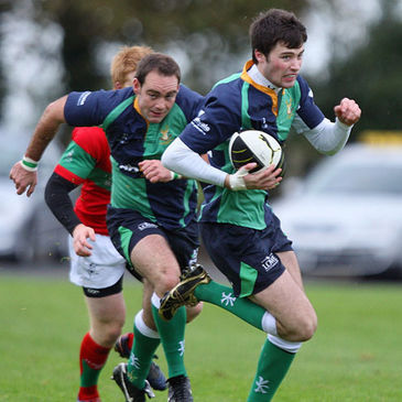James Thompson in action for Ballynahinch