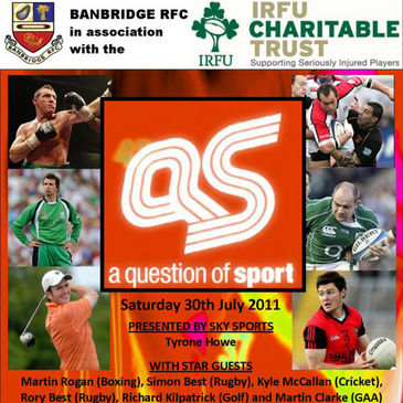 Banbridge are hosting 'A Question of Sport' next month