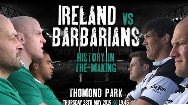 Ireland To Face Barbarians At Thomond Park