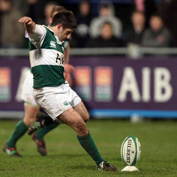 Barry Keeshan in action for the AIB Club International side