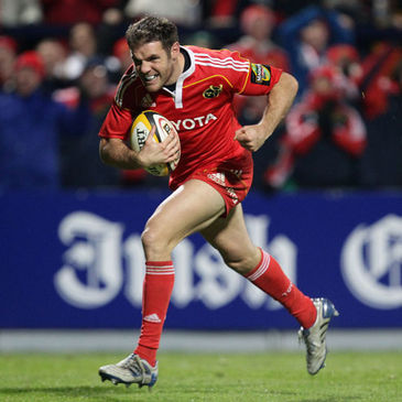 Barry Murphy in action for Munster last season