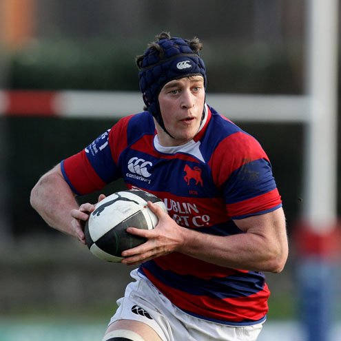 Captain Barry O'Mahony scored Clontarf's first try against Young Munster