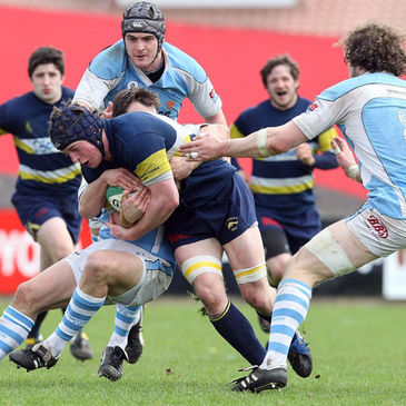 Dolphin flanker Barry O'Mahony in action against Garryowen