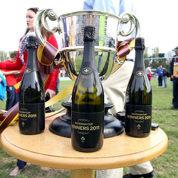 The Bateman Cup and the winners' champagne