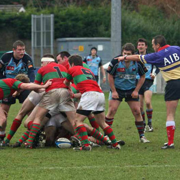 Action from the Belfast Harlequins v Clonakilty game