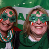Suzanne Dawson and Kath Kelly from Belfast were getting into the spirit of things prior to kick-off at Stadium Taranaki