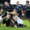 Bernard Jackman carries the ball forward during Leinster's first home game of the league season