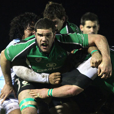 Second row Bernie Upton helps Connacht drive forward