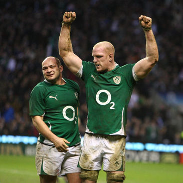 Ireland forwards Rory Best and Paul O'Connell