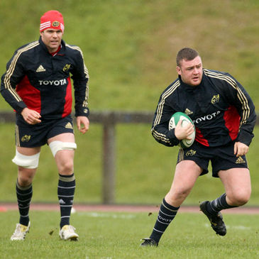 Munster 'A' forwards Billy Holland and Dave Kilcoyne