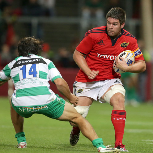 Munster's Billy Holland in action against Benetton Treviso