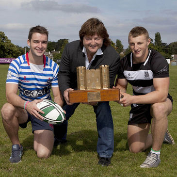 Shane Byrne launches the 2013 Castle Trophy at Blackrock College RFC