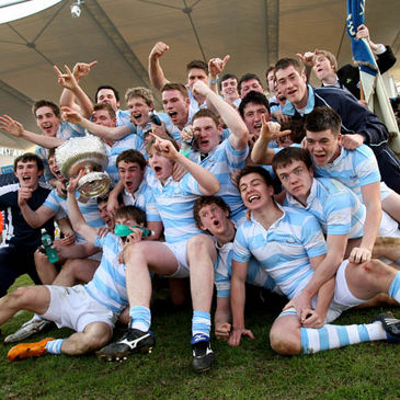 The Blackrock players celebrate their RDS success