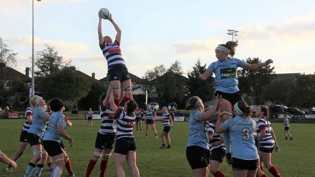 Blackrock's Mairead Holohan wins a lineout against Galwegians