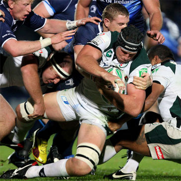 Bob Casey in action for London Irish against Leinster
