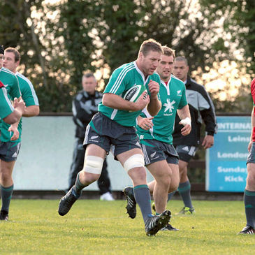 Brad Thorn is pictured in action at Ashbourne RFC