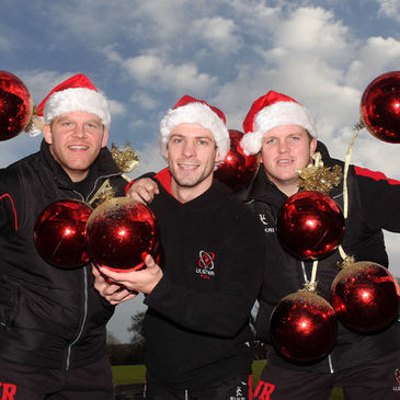 Ulster's Nigel Brady, Paul Marshall and Callum Black