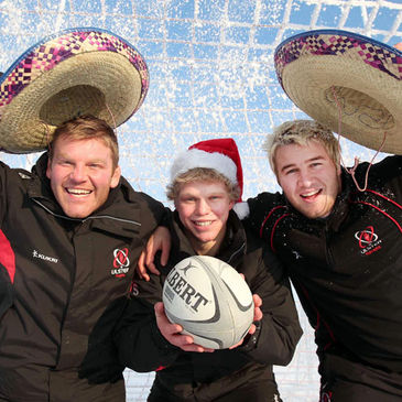 Ulster's Nigel Brady, Nevin Spence and Paddy McAllister