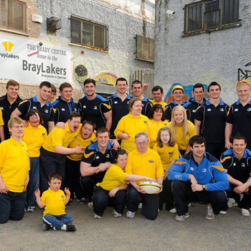 The Leinster Academy players meet the Bray Lakers