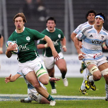 Brendan Macken in action for the Ireland U-20s against Argentina