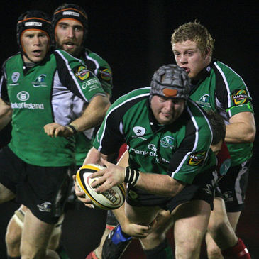 Connacht prop Brett Wilkinson is well supported