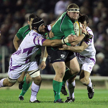 Brett Wilkinson in action against the Ospreys