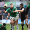 Prop Brett Wilkinson passes the ball to a team-mate as Connacht try to mount an attack against the league's defending champions